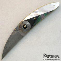 Owen Wood Custom Knife Art Deco Cresent Linerlock - Owen Wood custom knife - image 1