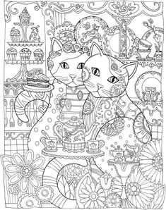 Creative CATS COLORING BOOK § Sample COLORING PAGE 2  § Welcome to Dover Publications