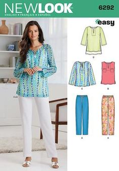 Simplicity Creative Group - Misses' Tunic or Top and Pull-on Pants. My pattern number is S0554