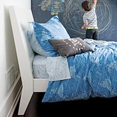 Love the new sea-themed kids bedding from Land of Nod.  Inspiration for Viggo's big boy bedroom.