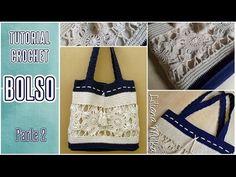 Cómo tejer bolso o cartera a crochet (2/3) - YouTube