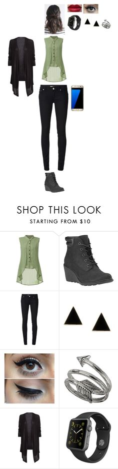 """""""Sans titre #1708"""" by leacousty55 ❤ liked on Polyvore featuring Timberland, Dondup, Samsung, Topshop, MANGO and Apple"""