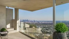 Downtown LA views from Hollywood hills home
