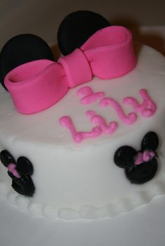 Minnie Mouse Birthday Cake Lilys 1st birthday Girls Final