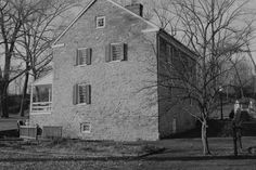 B & W image of Jonathan Hager House in Hagerstown, MD