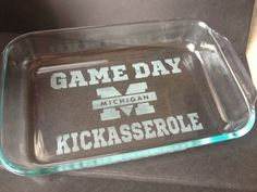 University of Michigan  - GO BLUE -   GAMEDAY Kickasserole Dish via Etsy  Would be awesome as a Razorback