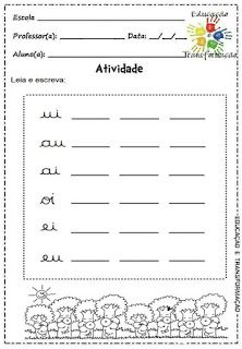 Atividades para Jardim: Vogais e encontros vocálicos Homeschool, Activities, Monet, Pasta, Language Activities, Abc Centers, Letter E Activities, Kids Learning Activities, Writing Activities