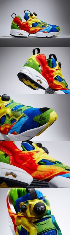 Reebok x Crooked Tongues Insta-pump Fury: birds, goalies tech running