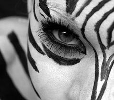 Zebra make up for the Lion King shoot