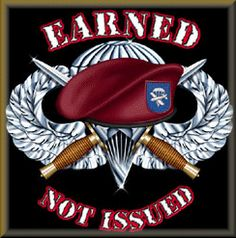 Earned! Airborne Army, Airborne Ranger, 82nd Airborne Division, Military Quotes, Military Life, Airborne Tattoos, Us Army Rangers, Red Berets, Vietnam War Photos