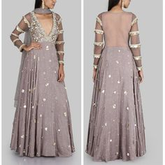This Embroidered anarkali set is a glowing example of festive style. 18 September 2017