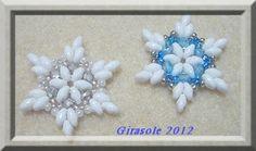 Beaded Snowflake PATTERN Girasole free download PDF
