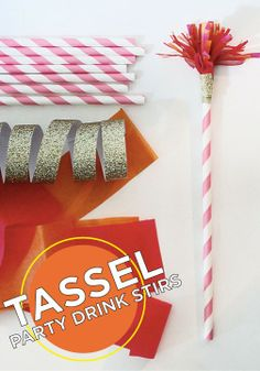 Celebrate in style with these festive tassel drink stirs!