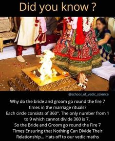Hindu wedding ritullll als. True Interesting Facts, Some Amazing Facts, Interesting Facts About World, Intresting Facts, Unbelievable Facts, Amazing Science Facts, Wierd Facts, Wow Facts, Wtf Fun Facts
