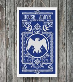 BoGo Pattern cross stitch House Arryn Games of Thrones Instant Download, Cross-Stitch PDF, Needlework, Embroidery, Digital #115 by…