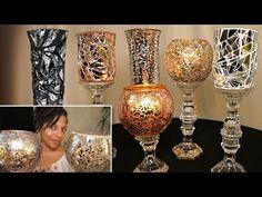 Mosaic Mirror Vases   4 Dollar Tree DIYs