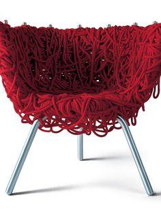 www.elle.be :Quand l'art des scoubidous envahit la maison, le design devient fou!