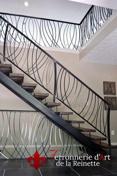 rampe escalier moderne fer forge sur mesure pas cher