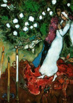 Les trois cierges, Marc Chagall