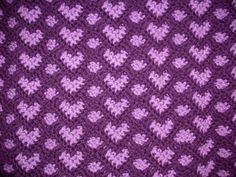 Sweetheart Ripple is reversible. Hearts one side, ripple on the other. Free pattern
