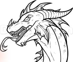 how to draw an easy dragon head step 12
