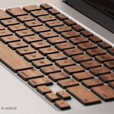 Wooden Decal For MacBook Keyboard
