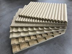 Fluted, Ribbed, Scalloped and Battened MDF panels. Wood Wall Design, Wall Panel Design, Joinery Details, Wall Finishes, Wall Cladding, Diy Décoration, Interior Walls, Wall Treatments, Wood Paneling