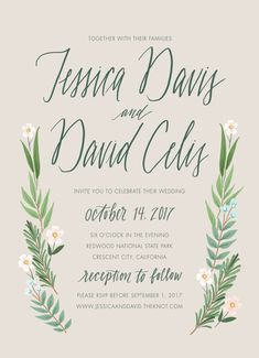 Announce your special day with a whimsical, rustic wedding invitation. You can also purchase RSVP, thank you or other wedding suite cards ala carte - these will include the same visual elements as the invitation. After you purchase this listing, please e-mail me