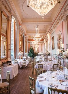Gold, blush and oh-so glamorous, this creative couple's December wedding brought their twinkling tree-lined wonderland aisle to life with blush and gold birds, baubles and tea lights too