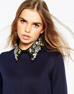 jumper with detachable shirt collar - Google Search