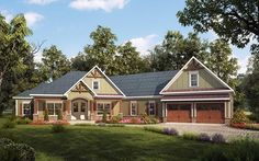 House Plan 58255 | Craftsman Plan with 2925 Sq. Ft., 4 Bedrooms, 4 Bathrooms, 2 Car Garage