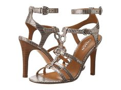 Dress up everything with these killer pewter heels by Coach. $55 (reg$158) #bargain (Also in tan and platinum.)