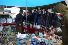 On the 21st of each month, Toji Market, Kyoto