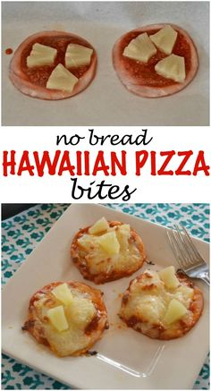 Low Carb Hawaiian Pizza Bites