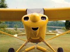 cheerful plane face
