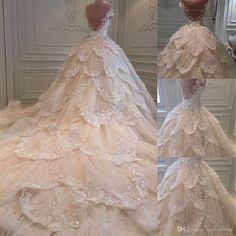 New Sweetheart Luxury Beading Wedding Dress Long Sleeve Appliques Dresses Cathedral Royal Train Vestidos De Novia - Schöne Brautkleider - Bridal Dresses 2017, Long Wedding Dresses, Long Sleeve Wedding, Wedding Dress Sleeves, Bridal Gowns, Gowns 2017, 2017 Bridal, Modest Wedding, Wedding Gowns
