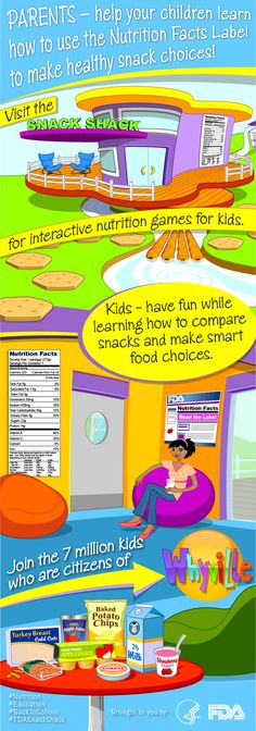 attention parents fda s snack shack in whyville has two new interactive online games that help