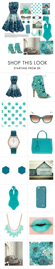 """""""Teal"""" by candy-n-k ❤ liked on Polyvore featuring ALDO, Thierry Lasry, Henry London, Fendi, Wolf & Moon, Kenneth Cole, INC International Concepts and Pier 1 Imports"""