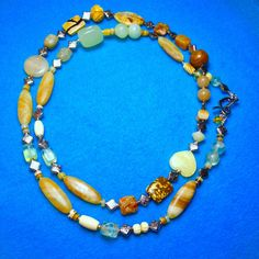 JUST LIKE STEW+Multi-Gems+39 Inch Necklace+Multi-Wear-Multi-Gems+Jasper+Quartz+Bone+Silver Beads+Etc.+Native American Made by TjeansJewelry on Etsy