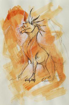 Gryphon sketch by EnikoToth.deviantart.com
