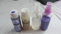 Making My Own Glimmer Mist Spray Paint Sprays Craft Tutorial