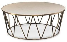 Tobias Marble Top Round Coffee Table