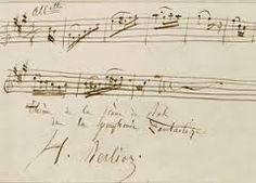 musique manuscrite - par Hector #Berlioz