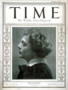 TIME Magazine Cover: Ethel Barrymore - Nov. 10, 1924 - Theater - Actresses - Broadway