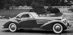 "1938 LANCIA ASTURA SERIES IV COUPE ""FLYING STAR"" - by Carrozzeria Touring Superleggera of Milan."