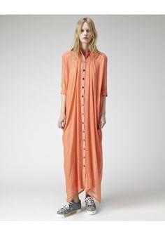Kenzo / Checked Silk Shirtdress | La Garçonne