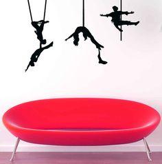 Trapeze, Cirque du Soleil, Circus Decal, Circus Decorations, Wall Art, Wall Decor, Home Decor, Housewares, Kids Room Decor, Tween Art