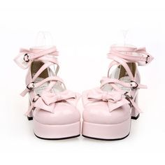 Sweet Pastels Bow Princess Doll Shoes