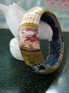 "découpage bangle (the one from the thrift store I've been ""sitting on"" for six months)"