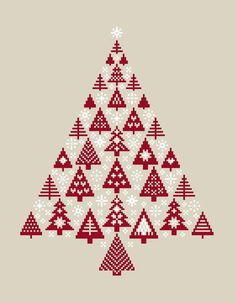 free cross stitch pattern christmas tree by alissa. Black Bedroom Furniture Sets. Home Design Ideas
